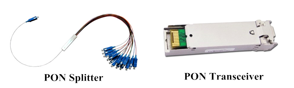 PON splitter & transceiver