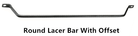 round lacer bar with offset