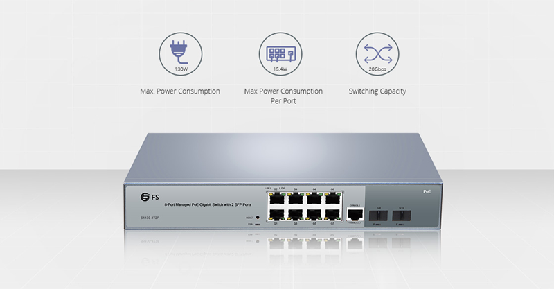 8 Port PoE switch-FS.COM