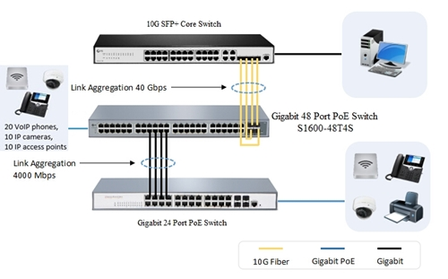 FS 48 port switch application
