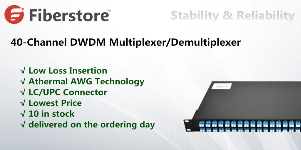 Fiberstore 40-channel DWDM Mux/Demux