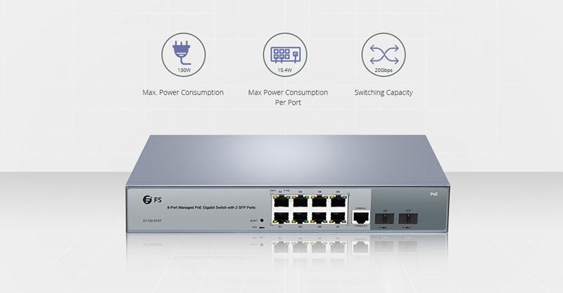 8 Port PoE switch-FS.COM